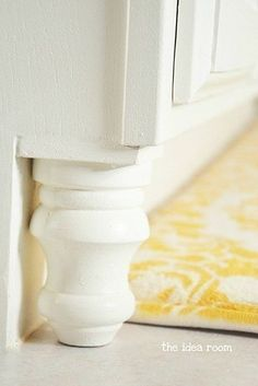You could also opt for the super-simple JAF (Just Add Finials). | 21 Kitchen Upgrades That You Can Actually Do Yourself