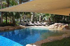 shaded wading pool