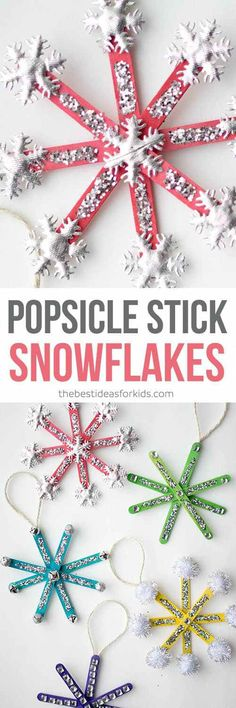 Popsicle Stick Snowflake Ornaments, Christmas trees, reindeer, snowmen, angles  and so much more.......