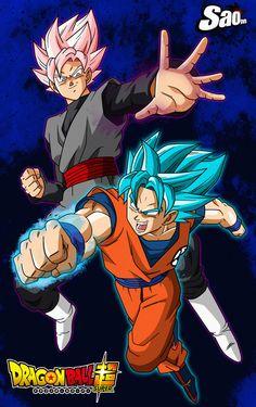 Goku VS Black - Poster by SaoDVD
