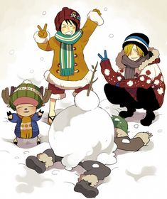 """""""Because dirt and grass (including MOSS) belongs UNDERNEATH the snow, Zoro."""""""