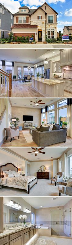 Central Living by David Weekley Homes has award-winning homes available in Enclave at Willowpark, located in southwest Houston. Enjoy a private, gated community with provided yard maintenance, nearby shopping and dining at the Galleria, and close proximity to downtown Houston. The Wickham can be customized to have 3-5 bedrooms, 2-3 full baths, and up to 2,475 square feet of luxury living space. #houston #dreamhome #davidweekleyhomes #design #luxury #home
