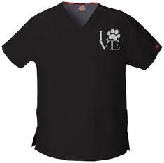 Love Vet Techs (Veterinary Technicians, Veterinarians) - Embroidered Scrub Vet Tech Scrubs, Medical Scrubs, Veterinarian Technician, Veterinarian Scrubs, Veterinarian Career, Dog Grooming Shop, Pet Shop, Dog Food Online, Vet Assistant