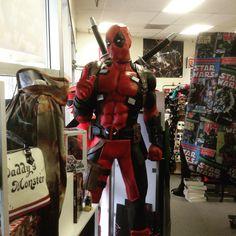 #Marvel's #Deadpool life-size statue is finally here! #comicbooks #EugeneOR #SpringfieldOR #EugeneOregon #SpringfieldOregon