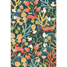 Korall Wall Mural, Borastapeter, Korallang by Hanna Warning, Luxury Wallpaper, Designer Wallpaper, Rose Wallpaper, Countryside Style, Design Studio, Surface Pattern, Wall Murals, Wonderland, Tapestry
