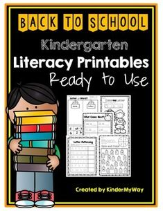 This Back to School Literacy Packet includes 50 pages of fun literacy printables which include letter recognition, letter writing, letter patterning, rhyming, beginning sounds, color by letter, letter sort, word sort, and many more!