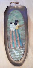 Vintage de mediados de siglo Salvador Teran brass-mosaic Azulejo tray-wall Colgante México