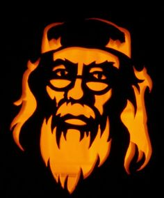 Pin for Later: Harry Potter Halloween: Check Out These Potter-Inspired Pumpkins!  Dumbledore is a stern jack-o'-lantern subject.