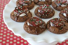 Hot Cocoa Cookies... chewy, chocolaty and oh so delicious!  - glorioustreats.com (will try with my Earth Balance butter)