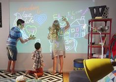 A video from Bird also shows the virtual screen being used as a canvas for children to 'dr...