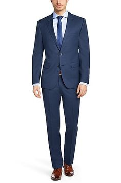 Regular fit suit 'The James5/Sharp7' in new wool, Blue