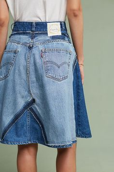 Slide View: 4: Reworked Denim Skirt