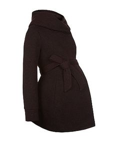 Burgundy (Red) Maternity Burgundy Jersey Snood Coat  | 284640567 | New Look