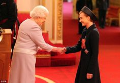 Moving up:She was made an OBE in 2003 and two years later was presented with France's Leg...