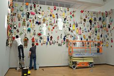 soft sculpture installation - A series of little sculptures brought together to create impact.