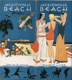 """oldflorida: """"Vintage Jax Beach brochure from the University of Florida George A. Smathers Libraries. """""""