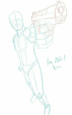 #howto #how #tutorial #reference #drawing #inspiration #pose #gun