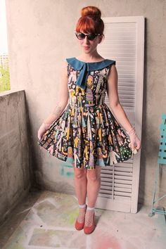 Crazy doll dress is strange and appealing. + Heels.