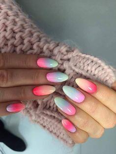 Mix Gel Polish colours by Indigo Educator Monika Cis #nails #nail #nailsart #indigonails #indigo #hotnails #summernails #springnails #miami #nataliasiwiec #ombre #ombrenails #omgnails