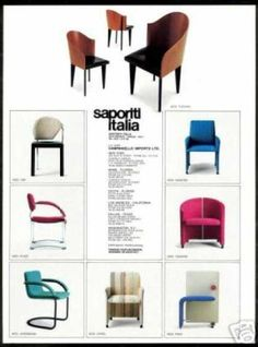 Italian chairs 80´s style