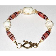 Orange, Brown, Beige and Off-White Men's Bracelet