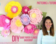 Flores de Papel Gigantes Moldes y Tutoriales por AvantiMorochaDIYs