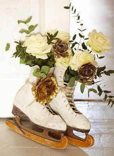 Ice Skate Decorations with Roses