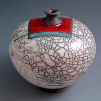 Michael Lee Howland | Raku fired crackle orb