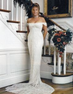 Barbra Joan Streisand's wedding dress made for her by Donna Karan....Beautiful.   B.