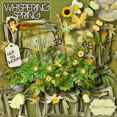 Whispering Spring - Digital Scrapbook Kit and  FREE QuickPage