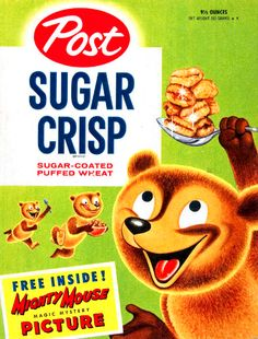 Sugar Crisp with a Mighty Mouse picture inside!!