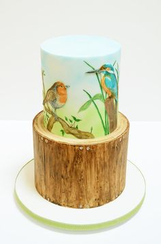 Birdwatching/woodwork tribute - Cake by The Chain Lane Cake Co.