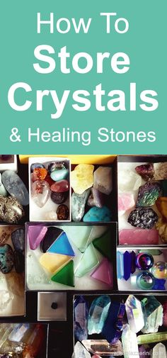 What is the best way to store crystals? Learn how to organise and store your healing crystals and tumble stones when not in use. Protect fron sunlight, damage and dust!