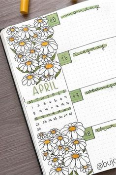 25+ Best Daisy Bullet Journal Spread Inspiration For 2021 - Crazy Laura