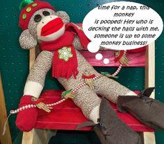 Debra Quartermain's festive sock monkey.