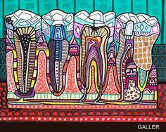 50% Off Surreal tooth Art Art Print Poster by HeatherGallerArt