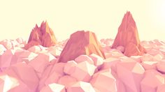 Low Poly Scenes by Dennis Cortes, via Behance