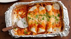 Enchiladas are the perfect meal to make and freeze! Double the recipe and make two batches--one for tonight and one for later!