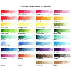 Kuretake Gansai Tambi Watercolor - Bright Yellow (No. Color Mixing Chart, Color Blending, Color Charts, Watercolor Artwork, Watercolor Cards, Watercolor Galaxy, Watercolor Ideas, Kuretake Gansai Tambi, Japanese Watercolor