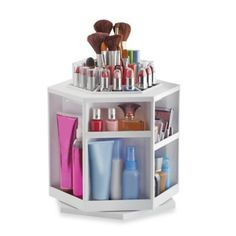 Lori Greiner Spinning Cosmetic Organizer in White - BedBathandBeyond.com - $40 + 20% off coupon = $32