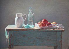 Artist : Colin Fraser  Title : Mainsale  Media : Original - Egg Tempera  Size : 61 x 81cm