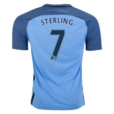 0fa28fe9976 Nike Raheem Sterling Manchester City Home Jersey 16 17