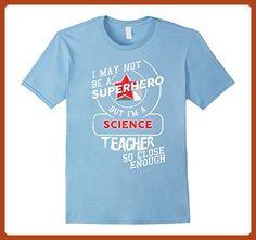 Mens Science Teacher Shirt Superhero Teacher Appreciation 2XL Baby Blue - Superheroes shirts (*Partner-Link)