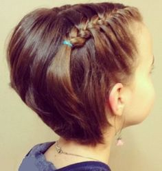 15 Cutest Short Hairstyles For Little Girls in 2019 - Style My Hairs Girl Hair Dos, Girl Short Hair, My Hair, Cute Hairstyles For Short Hair, Little Girl Hairstyles, Curly Hair Styles, Short Bobs With Bangs, Short Hair Cuts, Chin Length Bob