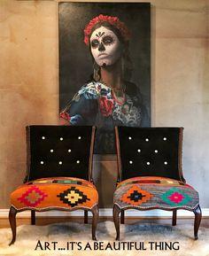 Antique Spanish Chair Designs For Home Furniture - Western Furniture, Funky Furniture, Classic Furniture, Unique Furniture, Shabby Chic Furniture, Furniture Makeover, Painted Furniture, Furniture Design, Cabin Furniture