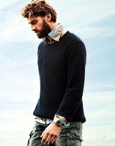 gorgeous men's sweater, gorgeous man... Swoon!