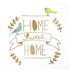 Home Sweet Home Sticker Gold  MIMI'lou