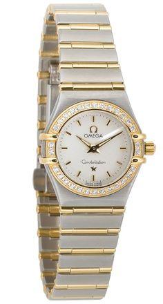 Omega Women's 1267.70.00 Constellation Quartz Mini Two-Tone Diamond Watch, (beautiful omega constellation watch, beautiful piece, omega constellation)