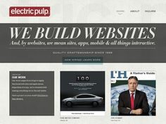 Website layout - Electric Pulp