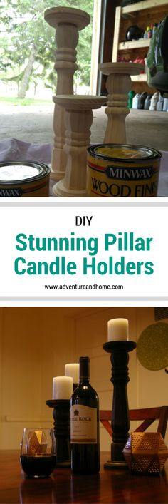 How to Create Stunning Pillar Candle Holders For Less - Adventure & Home